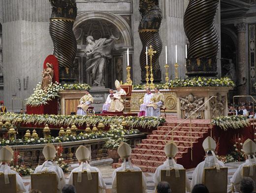 Торжественная рождественская месса в Ватикане